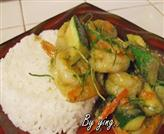 Stir Fried Shrimp with Geen Curry