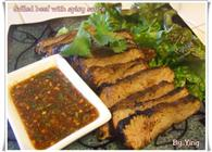 Thai Grilled Beef with Spicy Dipping Sauce